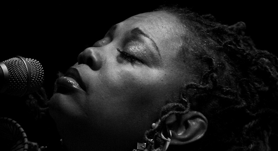 Dee Alexander and her quartet perform Nina Simone on Sunday at Fulton Street Collective. - R. MAYS