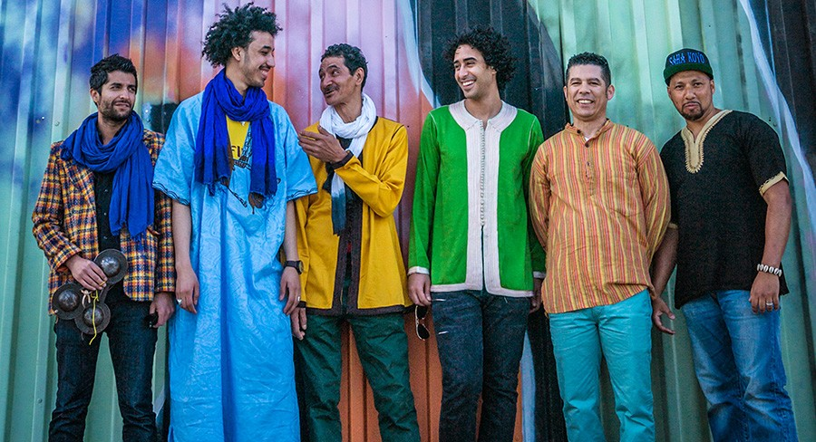 The six members of Innov Gnawa were born in Morocco but started their band in New York City. - COURTESY THE ARTIST