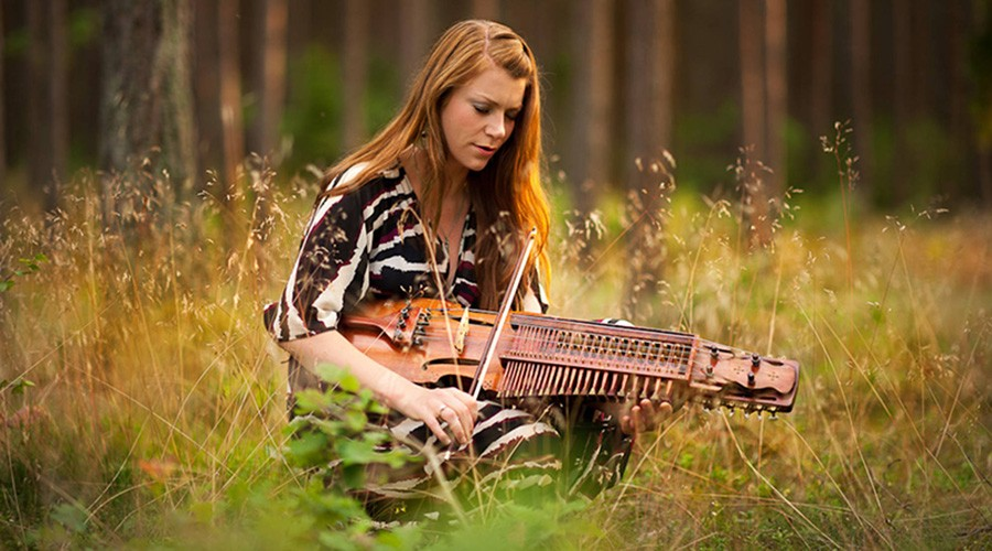 Swedish nyckelharpa player Emilia Amper - COURTESY THE ARTIST