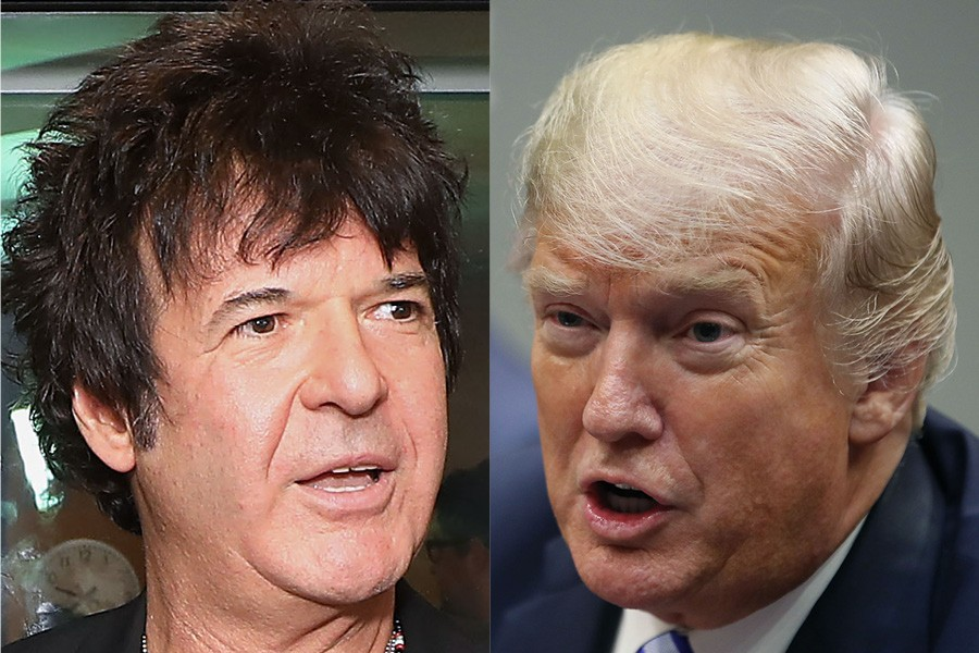 Clem Burke (left) and America's most famous unindicted coconspirator - PHOTOS BY PHILIP TOSCANO/GETTY IMAGES AND MARK WILSON/GETTY IMAGES