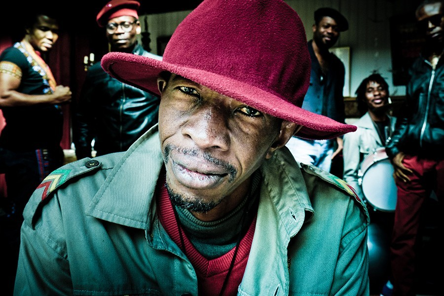 """Jean-Pierre """"Jupiter"""" Bokondji and the band Okwess, playing at the World Music Festival this weekend - MICKY CLEMENT"""