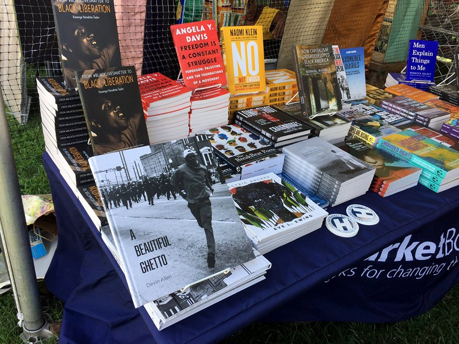 The Haymarket table at Afropunk 2017 - COURTESY HAYMARKET BOOKS