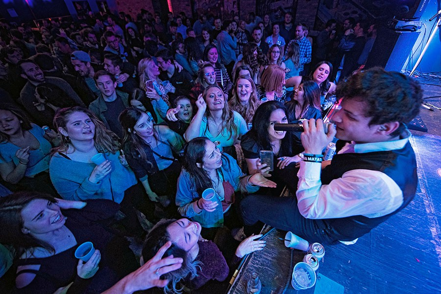 Jan Torres of Boy Band Review at Durty Nellie's in Palatine on November 21, 2018 - KAYLEIGH KAY