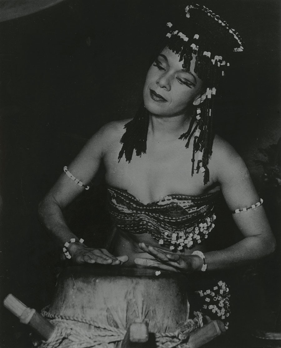 Katherine Dunham in L'Afrique, ca. 1949. - COURTESY NEWBERRY LIBRARY