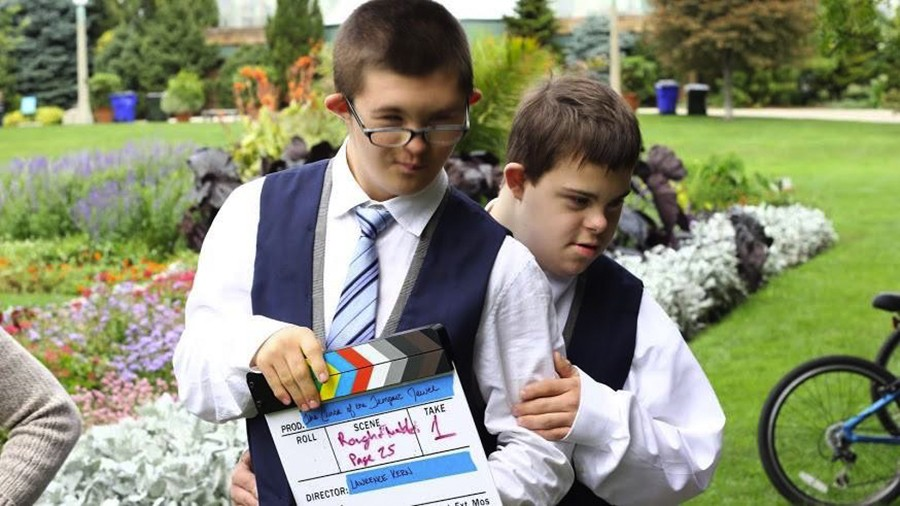 Lucas Miezal and Jack Butler filming The Curse of the Tempest Jewel on location - HEIDI KNAPPENBERGER