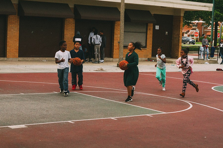 Omen first started going to Cole Park in grammar school, and it's still a magnet for kids who need a place to play basketball. - THOUGHTPOET