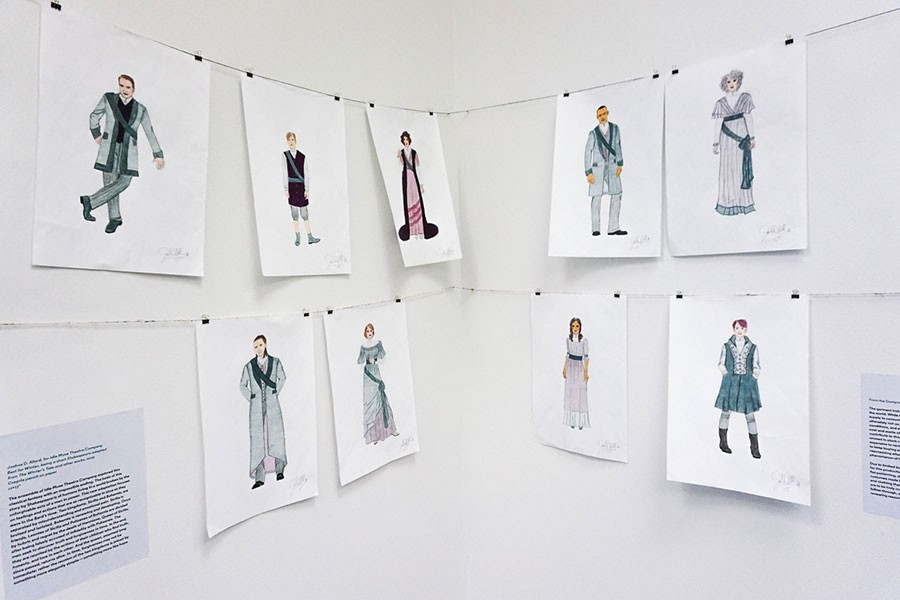 Joshua Allard's costume designs for Best for Winter at Idle Muse Theatre Company - DESIGN MUSEUM OF CHICAGO