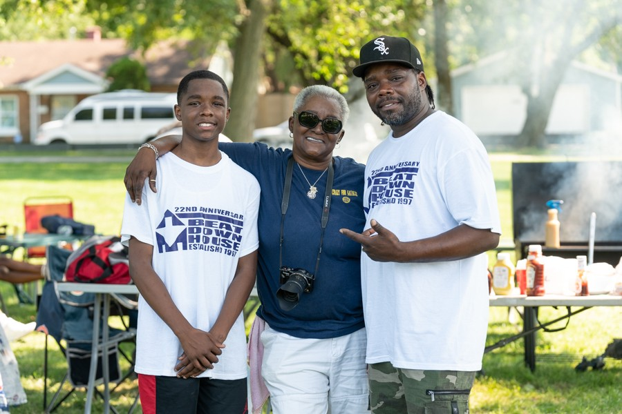 Three generations of DJs: DJ Clent with his 14-year-old son, DJ Corey, and his mother, Natalie Hill, who started it all in the 70s as DJ Chocolate Star - MELISSA BLACKMON