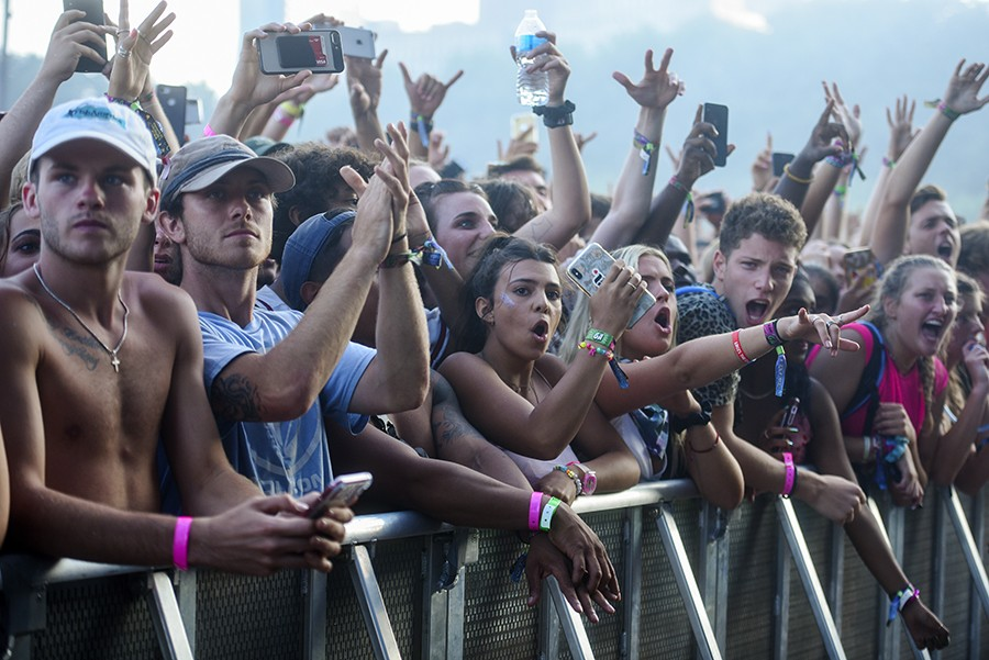 The front row of the Meek Mill crowd - KATHLEEN HINKEL