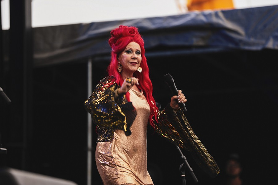 Kate Pierson's hair grows right out of her head that color, and I don't want to hear another word about it. - KRIS LORI