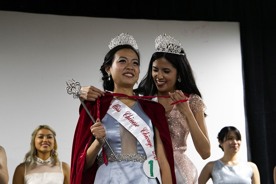 Pamela Yuan is crowned Miss Chinese Chicago 2019 Queen. - CAROLYN CHEN