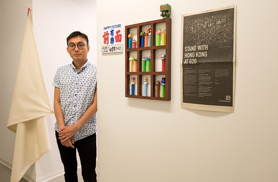 Percy Kam Lok Lam, 28, a graduate student in Fiber and Material Studies at the School of the Art Institute of Chicago. - HILLARY JOHNSON FOR CHICAGO READER