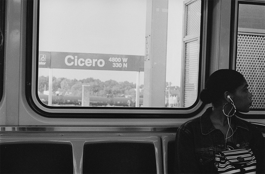 A woman heads west from Cicero. - W.D. FLOYD FOR CHICAGO READER