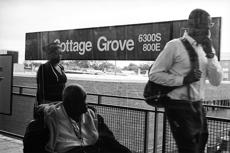 Commuters spill off the train during rush hour at Cottage Grove. - W.D. FLOYD FOR CHICAGO READER