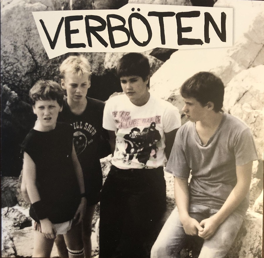 The cover of Verböten's new seven-inch, recorded in 1983