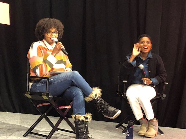 Jacqueline Coley from Rotten Tomatoes interviewing Zola director Janicza Bravo - SHERI FLANDERS