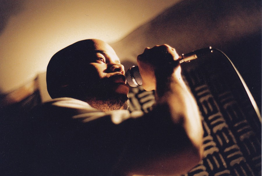 Akbar of Chicago hip-hop duo Mental Giants in the mid-90s. The Mental Giants frequently came to Blue Groove Lounge, and they headline this week's Winter Block Party at Metro honoring the series's 25th anniversary. - ROBERT BENAVIDES