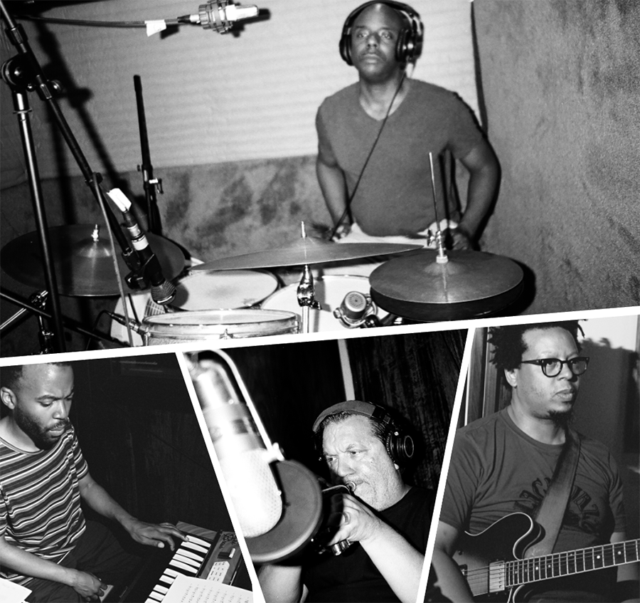 Clockwise from top: Chad Taylor, Jeff Parker, and Rob Mazurek, who cofounded the Chicago Underground collective in the mid-90s, and Josh Johnson, who plays in Parker's New Breed Band and joined the quartet for the new album - COURTESY ASTRAL SPIRITS RECORDS
