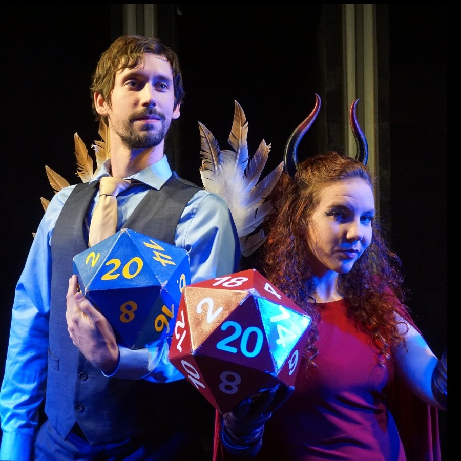 Bayley Pokorny and Katie Ruppert in Out on a Whim's Improvised Dungeons & Dragons at Otherworld Theatre - TIFFANY KEANE SCHAEFER