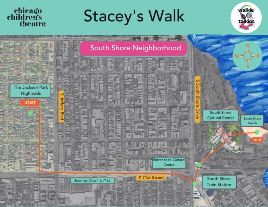 The map for Stacey's Walk by Quenna Lené Barrett - COURTESY CHICAGO CHILDREN'S THEATRE