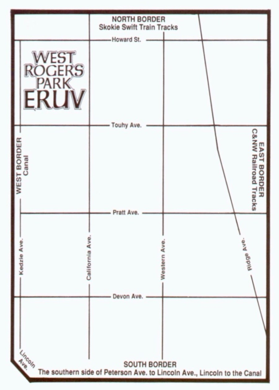 Map of the West Rogers Park Eruv - WEST ROGERS PARK ERUV COMMITTEE