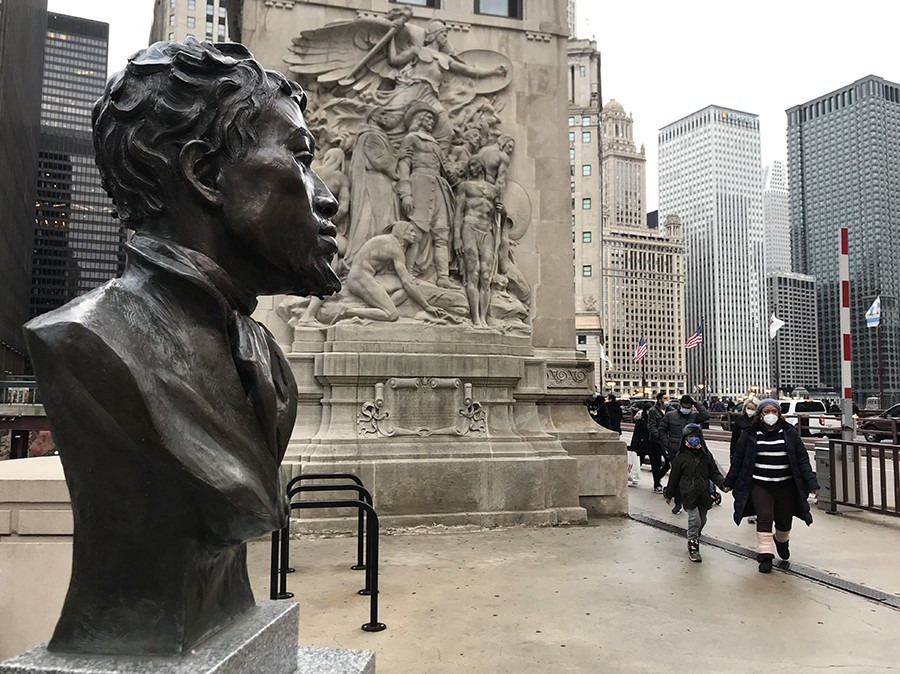 Another view of the DuSable bust - JOHN GREENFIELD