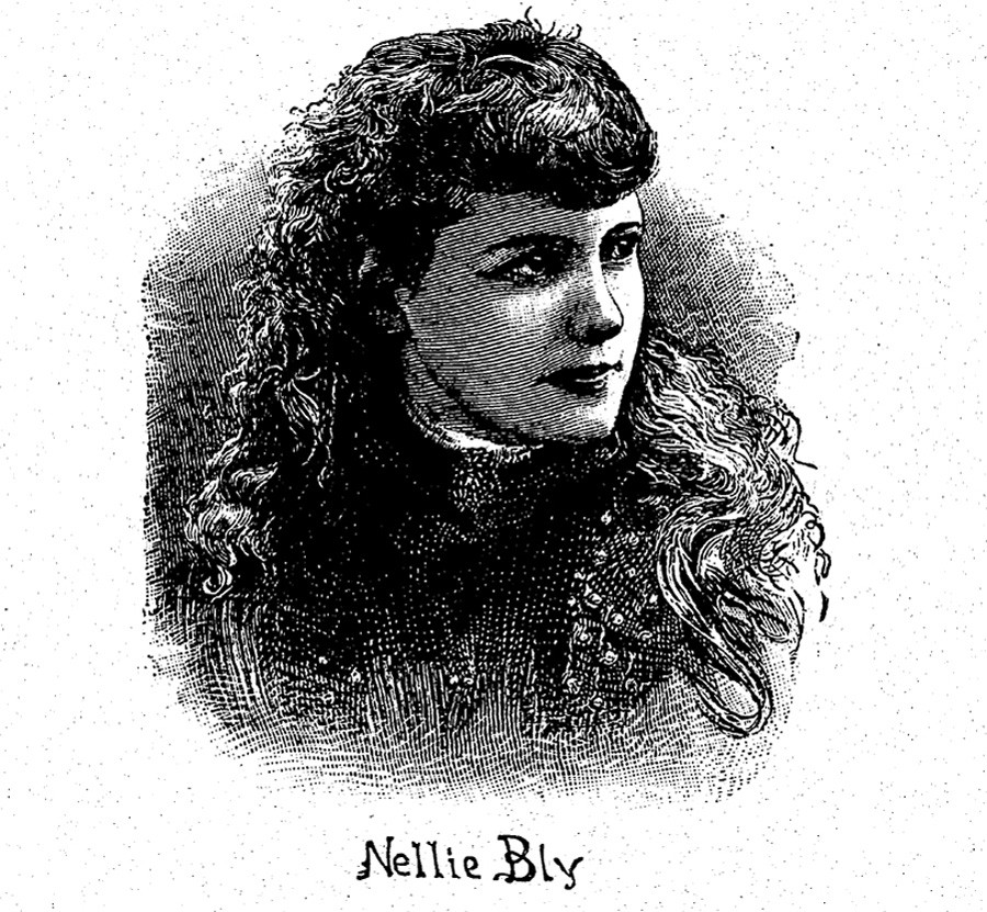 Illustration of Nellie Bly from London Story Paper, March 28, 1891 - COURTESY DAVID BLIXT
