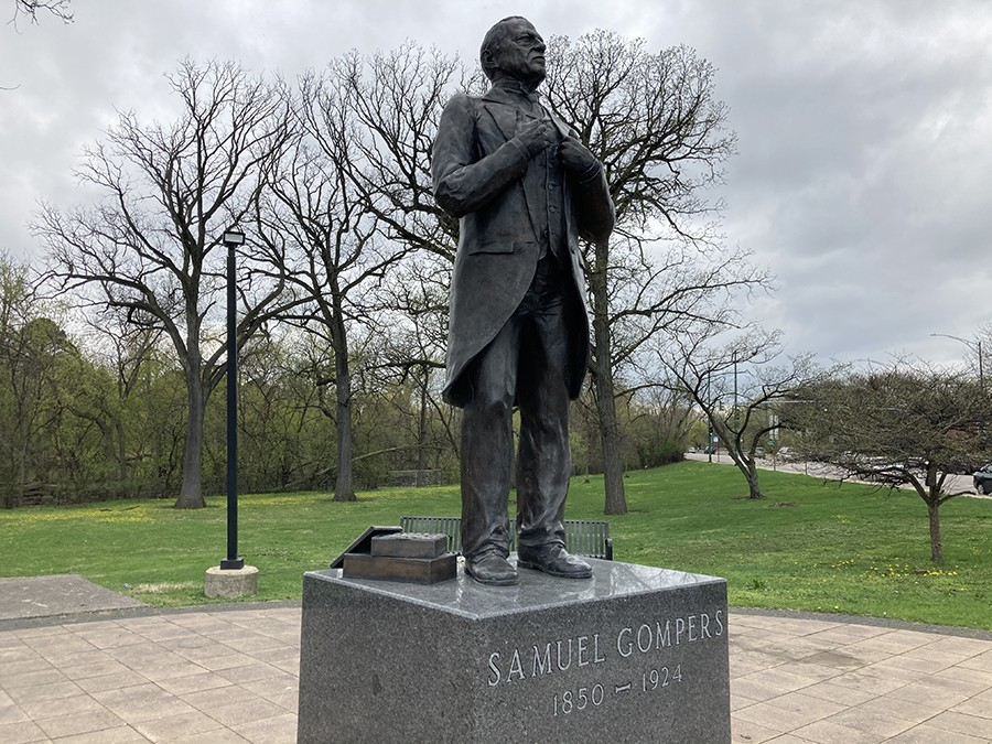Statue of Samuel Gompers in his eponymous park - JOHN GREENFIELD