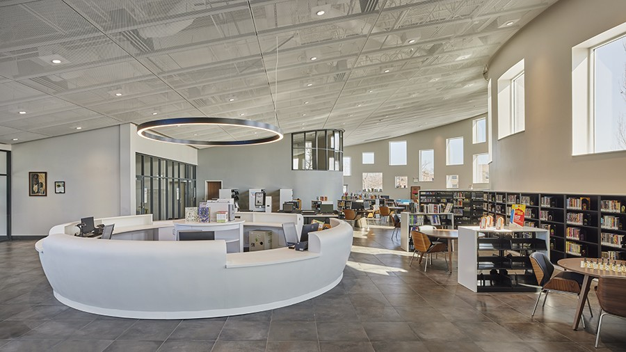 Inside the library in the FRC - COURTESY KOO/MIKE SCHWARTZ