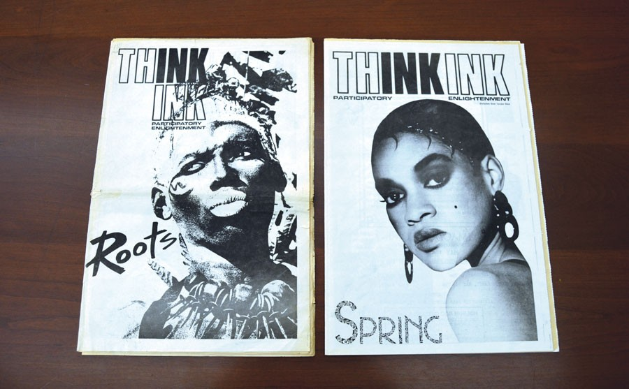 The only two issues of Thing's short-lived predecessor, Think Ink, published in late 1987 and early 1988 - AMBER HUFF