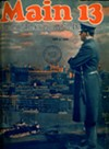 An officer looking over the (now nearly-unrecognizable) Chicago skyline in the first issue of <i>Main 13</i>.