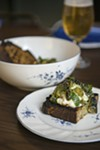 Strips of charred cucumber are tossed with pumpkin seeds and a restrained interpretation of the usually spicy Yemeni pesto <i>zhoug</i>, and eaten with cool whipped ricotta on thick slabs of Publican Quality Meats grilled sourdough.