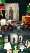 Police protection trinkets and prayer cards at South Side Irish Imports in Mount Greenwood