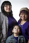 "<b>Jade Mazon (right, with her daughters Maya Banuelos, 20, and Kiki Mazon, 8)</b> is one of the Rebel Bells' founders and mentors; Banuelos is also a mentor. ""We all feel oppressed and alienated in some way,"" Mazon says. ""But we feel safe here."""