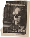 An ad for Joe Frank's radio show after he moved to California