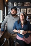 Jesse Iñiguez and Mayra Hernandez, owners and proprietors of Back of the Yards Coffee Co.
