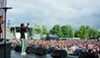 Saba performs on Pitchfork's Red Stage on Friday afternoon.