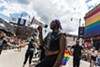 "A coalition organized by the Trans Liberation Collective disrupts the Chicago Pride parade on June 25, 2017. Protesters denounced the violence of police against LGBTQIA communities, and called attention to the ""ever-increasing corporatization, whitewashing, gentrification, racism, and cisnormativity that have infused Pride for decades."""