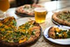 Butternut squash pizza with Bungalow Beer and Sabro Crush