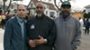Nasir Blackwell (left) with William Evans, Green ReEntry case manager, and John Hooks, IMAN intervention outreach worker