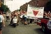 Homocore Chicago participated in an anticapitalist protest at the 1994 Pride parade, which coincided with the 25th anniversary of the Stonewall uprising.