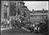 Children gathered outside of the Chicago Orphan Asylum
