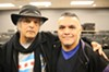 Benji Espinoza (right) with D.J. International owner Rocky Jones