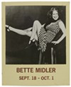 Window card for Bette Midler appearance at Mister Kelly's