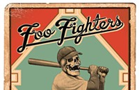A spooky sportsman on a Foo Fighters card on the gig poster of the week