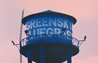Greensky Bluegrass flies high on the water tower on the gig poster of the week