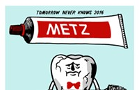 Metz's destructive dental hygiene on the gig poster of the week