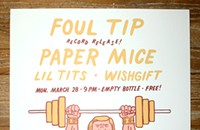 Foul Tip pumps iron on the gig poster of the week