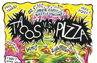 Tacos and pizza duke it out on the gig poster of the week