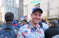 Fans wear their Cubs best to celebrate the World Series